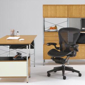 eames desk and storage unit